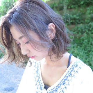 ボブ ストリート 外国人風 前髪あり ヘアスタイルや髪型の写真・画像