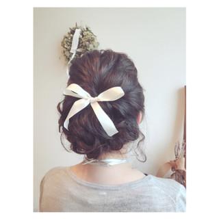 編み込み ヘアアレンジ ミディアム 外国人風 ヘアスタイルや髪型の写真・画像