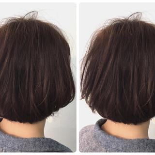 スモーキーアッシュ ボブ 女子力 ダブルカラー ヘアスタイルや髪型の写真・画像