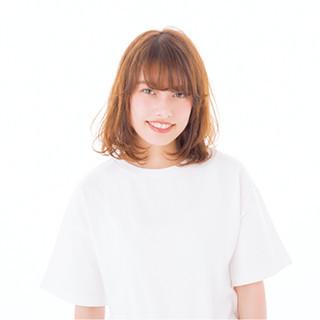 前髪あり 外国人風 ミディアム ストリート ヘアスタイルや髪型の写真・画像