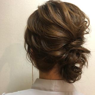 ナチュラル ミディアム 福岡市 結婚式 ヘアスタイルや髪型の写真・画像
