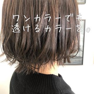 透明感 ナチュラル 切りっぱなしボブ ミニボブ ヘアスタイルや髪型の写真・画像