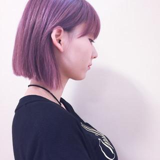ストリート ピンク ボブ 外国人風 ヘアスタイルや髪型の写真・画像