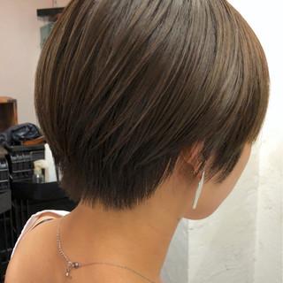 ナチュラル 大人女子 かっこいい ショートボブ ヘアスタイルや髪型の写真・画像
