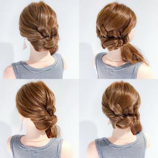 夏 アウトドア 上品 簡単ヘアアレンジ ヘアスタイルや髪型の写真・画像