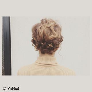 外国人風 ミディアム パーティ ヘアアレンジ ヘアスタイルや髪型の写真・画像