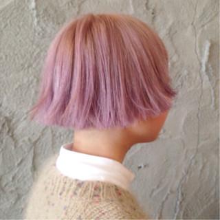 モード グラデーションカラー ハイトーン ショート ヘアスタイルや髪型の写真・画像
