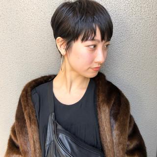 ベリーショート ショート デート エレガント ヘアスタイルや髪型の写真・画像