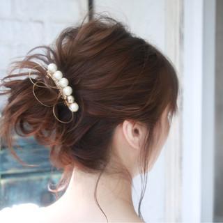 簡単ヘアアレンジ ヘアアレンジ セミロング 大人女子 ヘアスタイルや髪型の写真・画像 ヘアスタイルや髪型の写真・画像