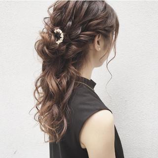 ヘアアレンジ ロング フェミニン 結婚式 ヘアスタイルや髪型の写真・画像