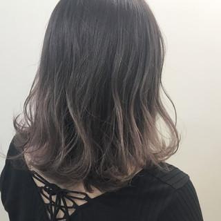 ハイライト 外国人風 グラデーションカラー パープル ヘアスタイルや髪型の写真・画像