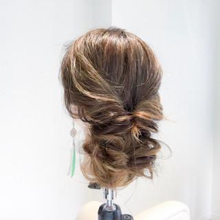 女子会 フェミニン ロング ヘアアレンジ ヘアスタイルや髪型の写真・画像