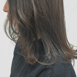 モテ髪 セミロング ナチュラル グレージュ ヘアスタイルや髪型の写真・画像