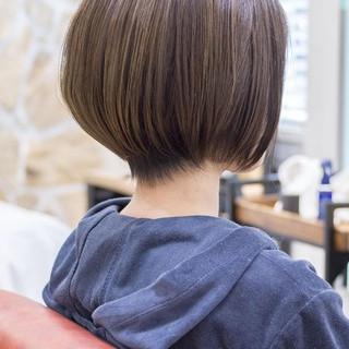 ナチュラル ショートボブ ショートヘア ショートカット ヘアスタイルや髪型の写真・画像