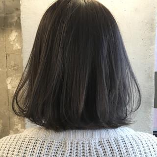 暗髪 透明感 ブルージュ グレージュ ヘアスタイルや髪型の写真・画像