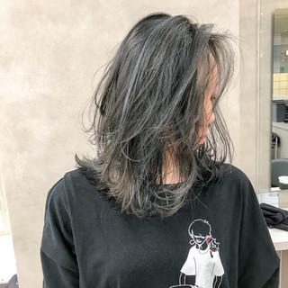 ミディアム ストリート ダブルカラー グラデーションカラー ヘアスタイルや髪型の写真・画像