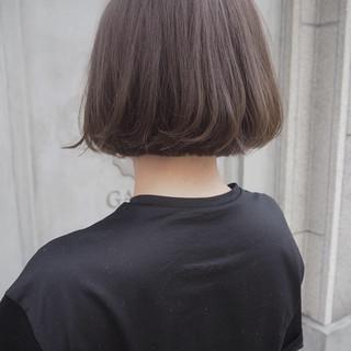 ミニボブ 大人ハイライト 透明感カラー ナチュラル ヘアスタイルや髪型の写真・画像