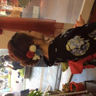 簡単ヘアアレンジ 浴衣アレンジ ナチュラル 浴衣ヘア ヘアスタイルや髪型の写真・画像