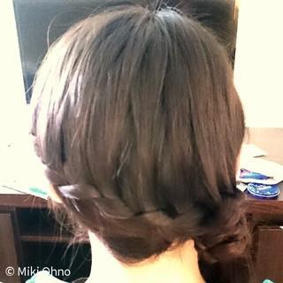 簡単 ガーリー まとめ髪 ヘアアレンジ ヘアスタイルや髪型の写真・画像