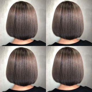 ショートヘア ミニボブ ショートボブ 切りっぱなしボブ ヘアスタイルや髪型の写真・画像
