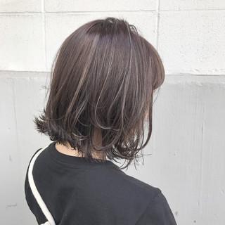 ウェーブ ガーリー アッシュ 秋 ヘアスタイルや髪型の写真・画像