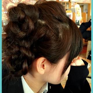 三つ編み ロング ヘアアレンジ 編み込み ヘアスタイルや髪型の写真・画像