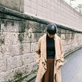 冬 アッシュ 前髪あり ロング ヘアスタイルや髪型の写真・画像