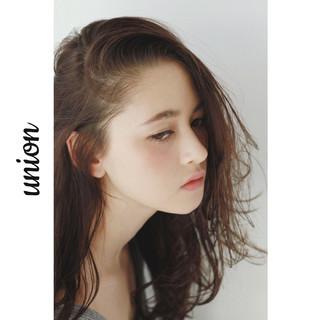 かき上げ前髪 ロング 外国人風 大人かわいい ヘアスタイルや髪型の写真・画像