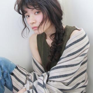 ウェーブ 簡単ヘアアレンジ ナチュラル 外国人風 ヘアスタイルや髪型の写真・画像
