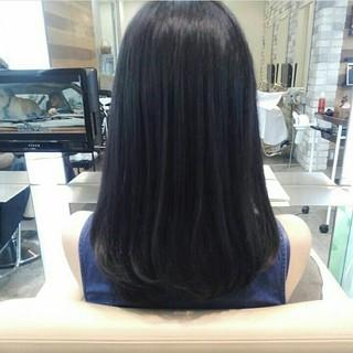 グレージュ セミロング 前髪あり ナチュラル ヘアスタイルや髪型の写真・画像