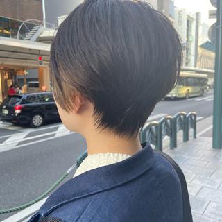 大人ショート ショート インナーカラー 小顔ショート ヘアスタイルや髪型の写真・画像