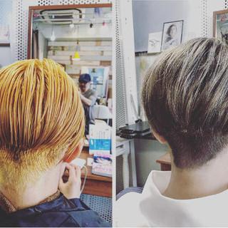 個性的 ショートヘア ショート ストリート ヘアスタイルや髪型の写真・画像