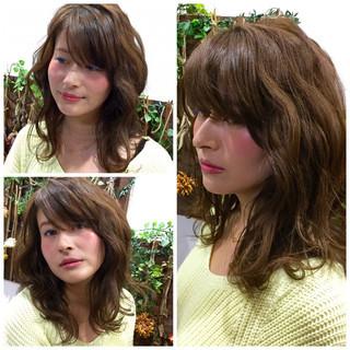 ゆるふわ フェミニン ガーリー セミロング ヘアスタイルや髪型の写真・画像