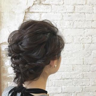 ゆるふわ ボブ ヘアアレンジ 結婚式 ヘアスタイルや髪型の写真・画像