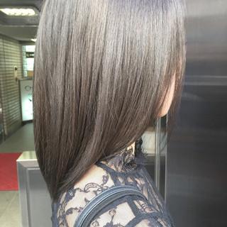 アッシュグレージュ グレージュ ミディアム ナチュラル ヘアスタイルや髪型の写真・画像 ヘアスタイルや髪型の写真・画像
