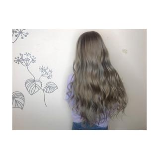 グラデーションカラー ロング 艶髪 ナチュラル ヘアスタイルや髪型の写真・画像