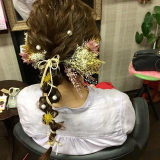 結婚式ヘアアレンジ 成人式ヘア 成人式 ガーリー ヘアスタイルや髪型の写真・画像