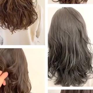 ナチュラルデジパ デジタルパーマ イルミナカラー パーマ ヘアスタイルや髪型の写真・画像