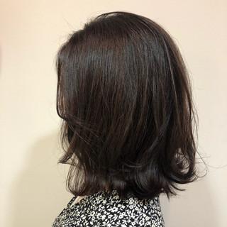 セミロング デート オフィス エレガント ヘアスタイルや髪型の写真・画像
