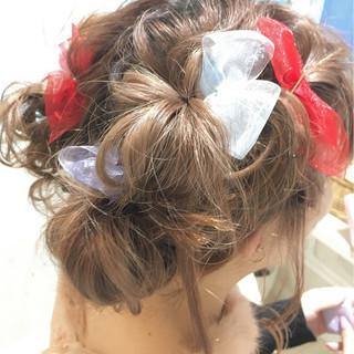 ヘアアレンジ ガーリー 結婚式 パーティ ヘアスタイルや髪型の写真・画像