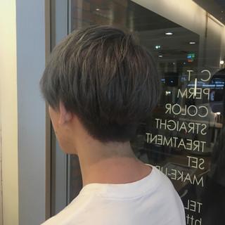 グレージュ ボーイッシュ 外国人風カラー ショート ヘアスタイルや髪型の写真・画像