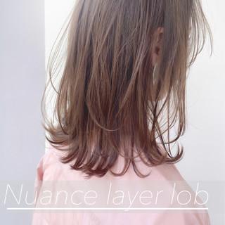 ミディアムレイヤー レイヤースタイル 大人かわいい 大人ミディアム ヘアスタイルや髪型の写真・画像