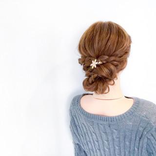 ヘアアレンジ デート フェミニン オフィス ヘアスタイルや髪型の写真・画像