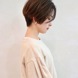 ハイライト グラデーションカラー ショート ベリーショート ヘアスタイルや髪型の写真・画像