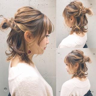 オフィス ボブ ヘアアレンジ ナチュラル ヘアスタイルや髪型の写真・画像 ヘアスタイルや髪型の写真・画像