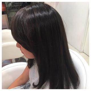イルミナカラー 外国人風 ロング ストリート ヘアスタイルや髪型の写真・画像