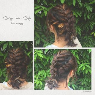 簡単ヘアアレンジ フェミニン ヘアアレンジ ハイライト ヘアスタイルや髪型の写真・画像 ヘアスタイルや髪型の写真・画像