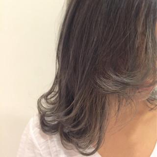 ブルージュ セミロング ストリート グラデーションカラー ヘアスタイルや髪型の写真・画像