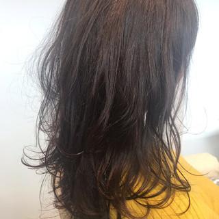 ナチュラル パーマ セミロング ヘアスタイルや髪型の写真・画像