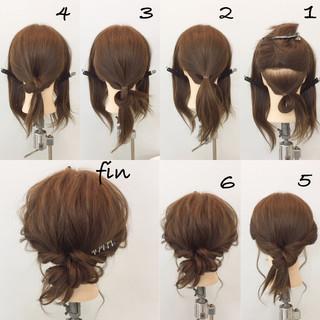 簡単ヘアアレンジ ミディアム ナチュラル 大人女子 ヘアスタイルや髪型の写真・画像 ヘアスタイルや髪型の写真・画像